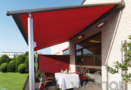 Weinor Awning with Legs - Red - Awningsouth