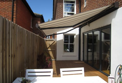 Small Outdoor Awning Fitted in Southampton