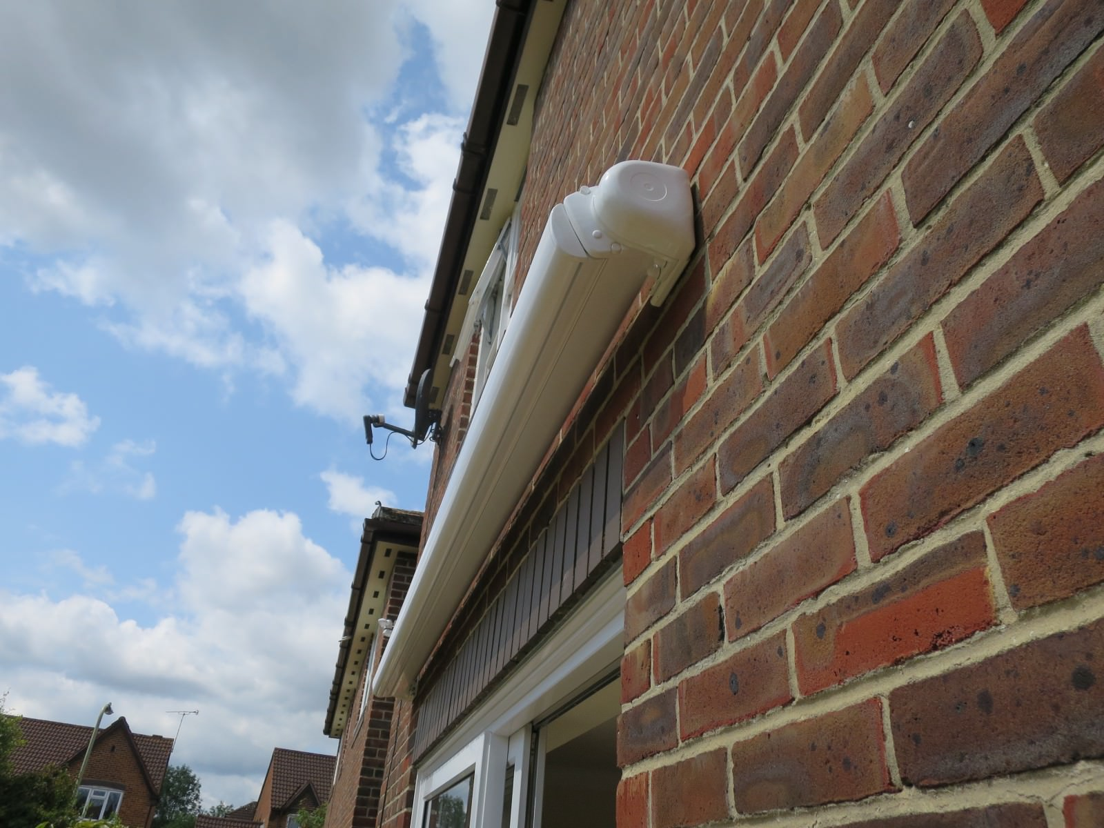 Electric awning bracket fitted in Romsey, Hampshire by Shuttersouth