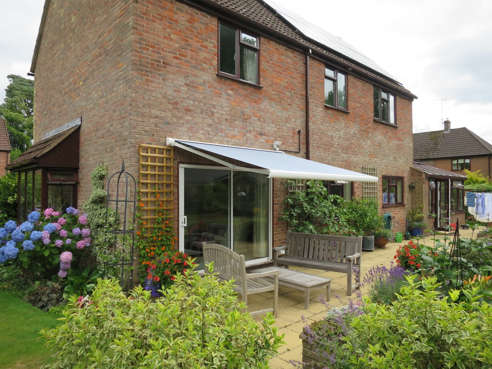 Garden Awning Fitted in Farnham - Shuttersouth