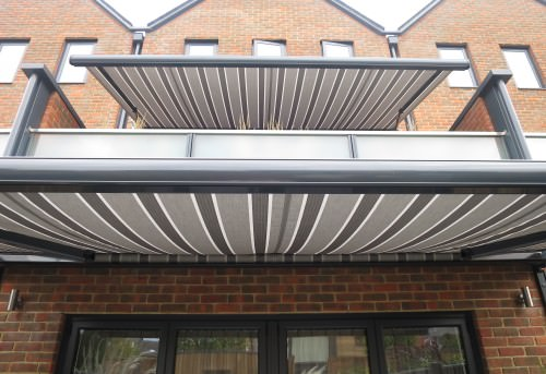 Large Balcony Awning Fitted in Winchester