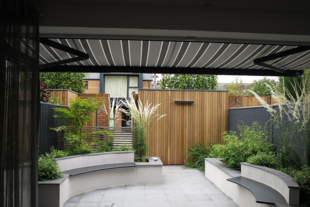 Retractable Patio Electric Awning Fitted In Winchester, Hampshire