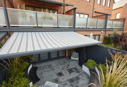 Retractable Balcony Electric Awning Fitted in Winchester, Hampshire