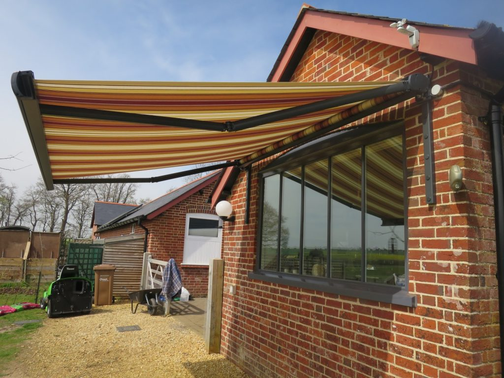 Patio Awning Fitted in Stockbridge by Awningsouth