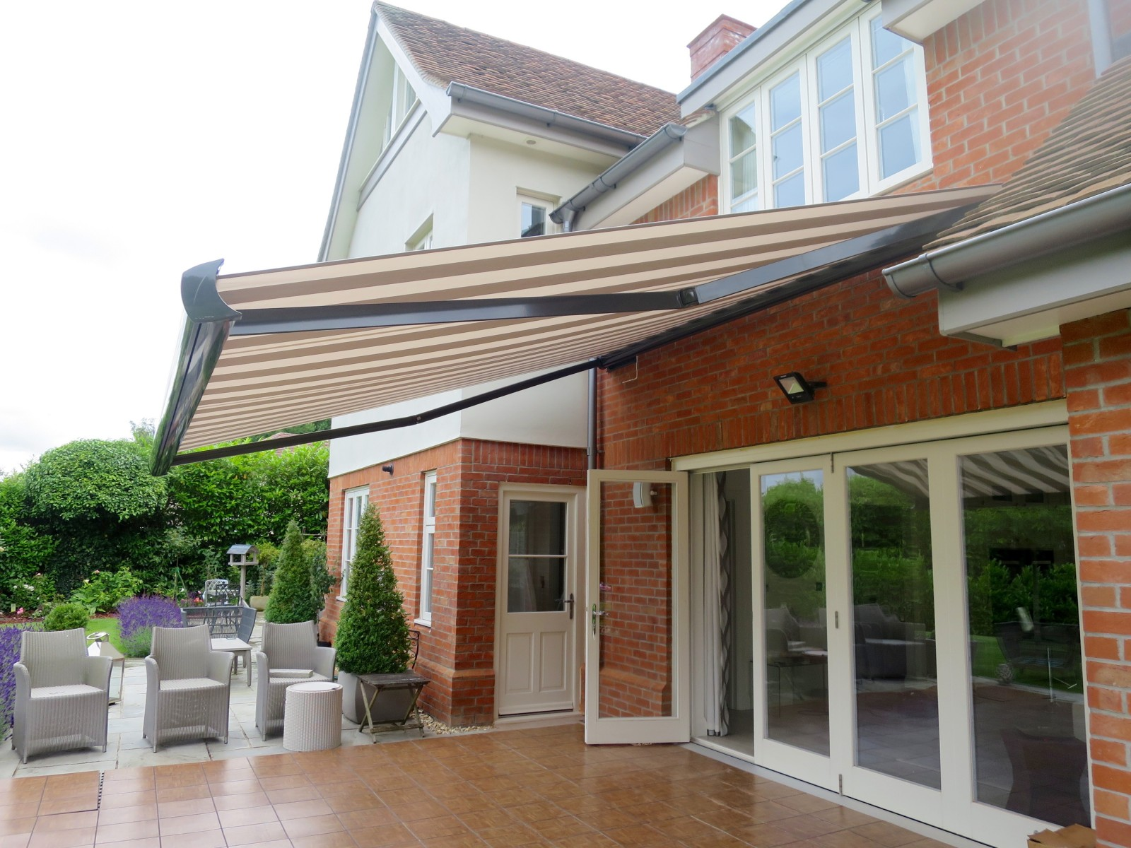 Large Electric Patio Awning Fitted In Southampton