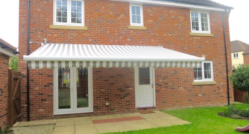 Large Retractable Awning Installed in Andover by Awningsouth - Open