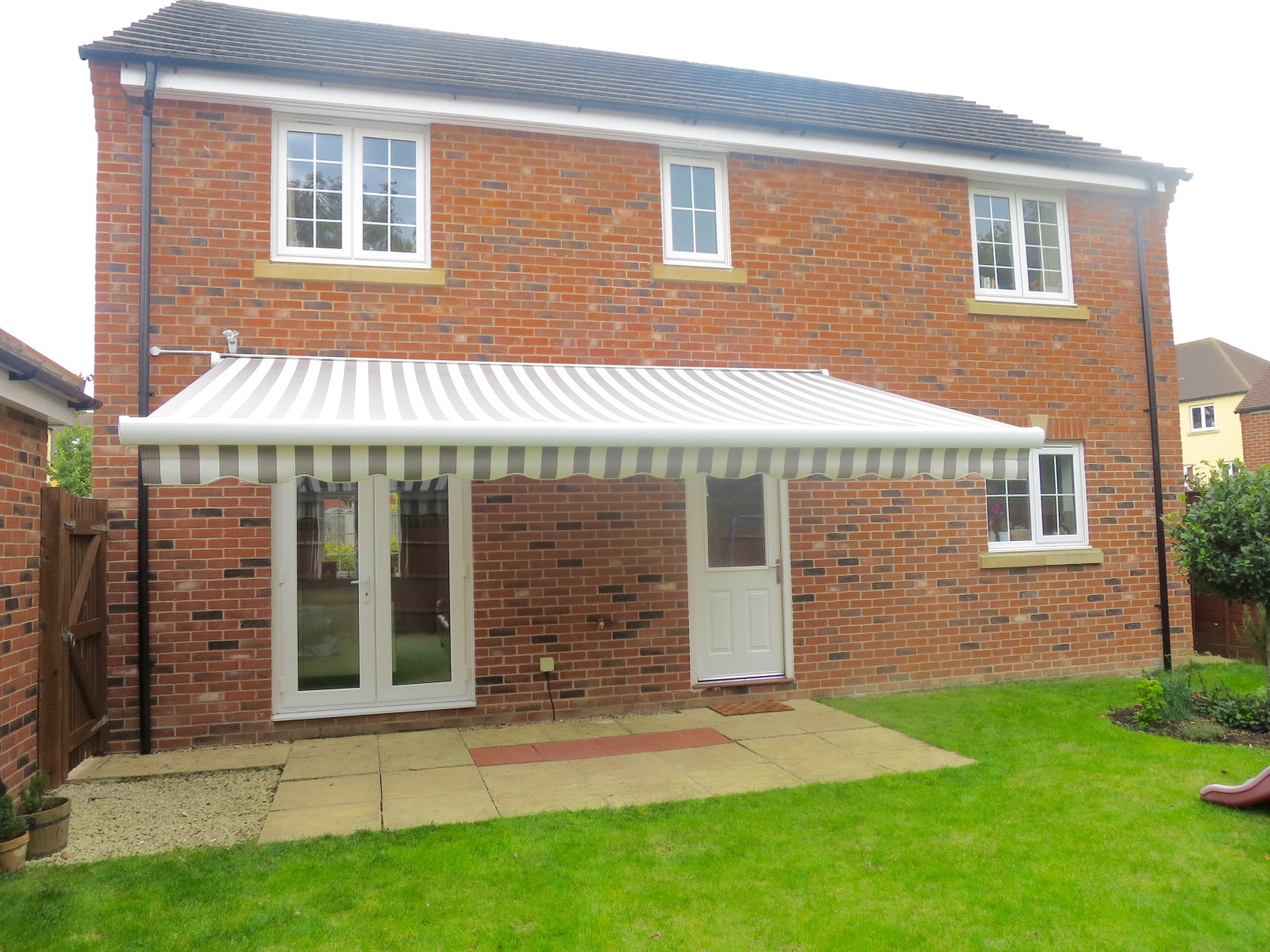 Large Patio Awning Installed In Andover