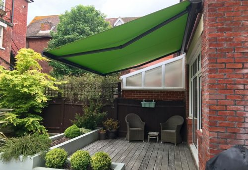 Green Weinor Awnaing Fitted in Southsea, Hampshire by Awningsouth