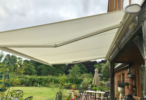 Electric Awning Fitted in Wiltshire - Awningsouth