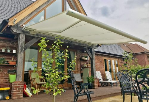 Electric Patio Awning Fitted in Wiltshire - Awningsouth