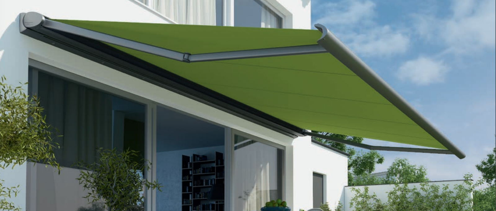 Weinor Awning - Green Fabric - Awningsouth