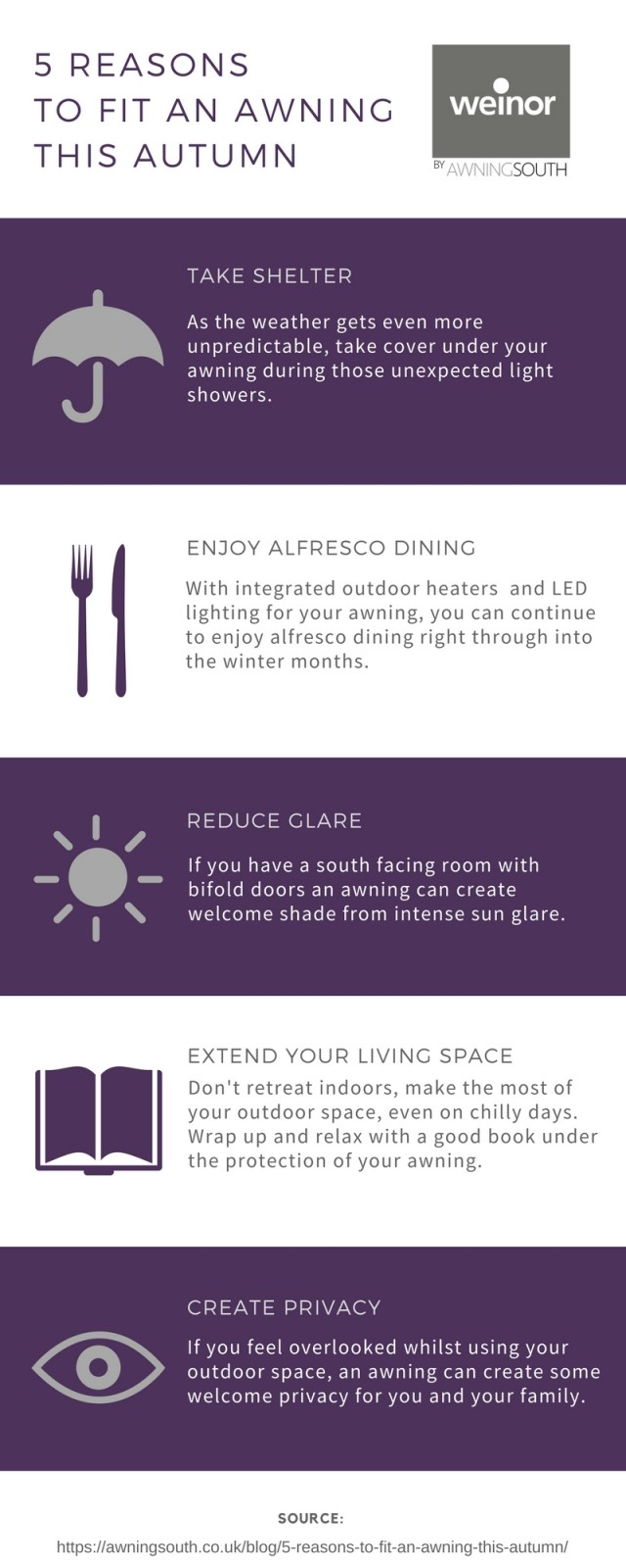 5 Reasons To Fit An Awning This Autumn - Awningsouth