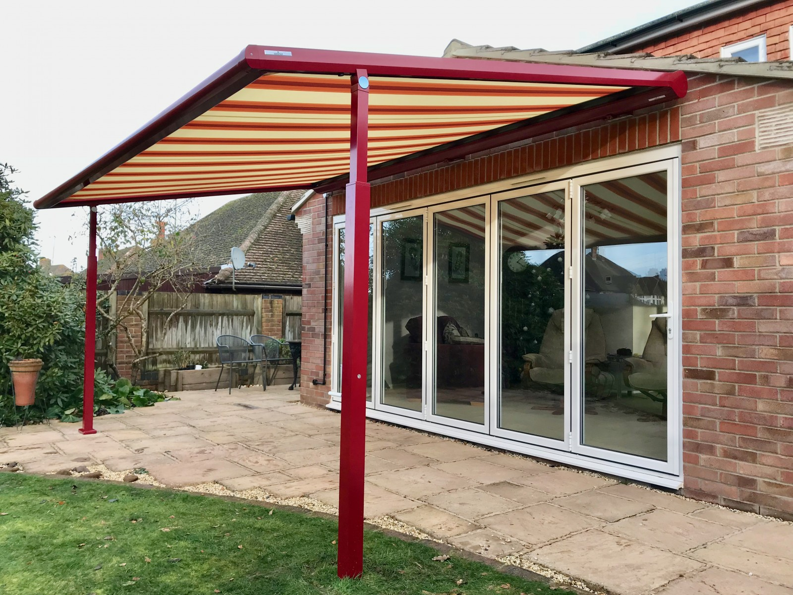 pergola awning fitted in newbury awningsouth. Black Bedroom Furniture Sets. Home Design Ideas