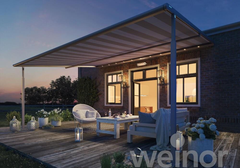 Weinor Plaza Viva Pergola Awning - LED Lights - Anwingsouth