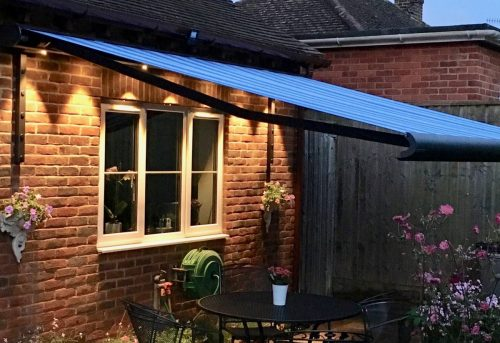Weinor Opal II Awning Fitted in Salisbury by AwningsouthWeinor Opal II Awning Fitted in Salisbury by Awningsouth - At Night - Large