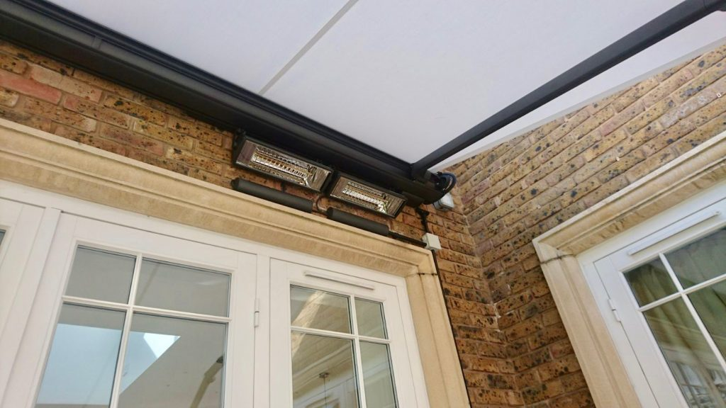 Weinor Cassita Awning with Heater Fitted in Surrey
