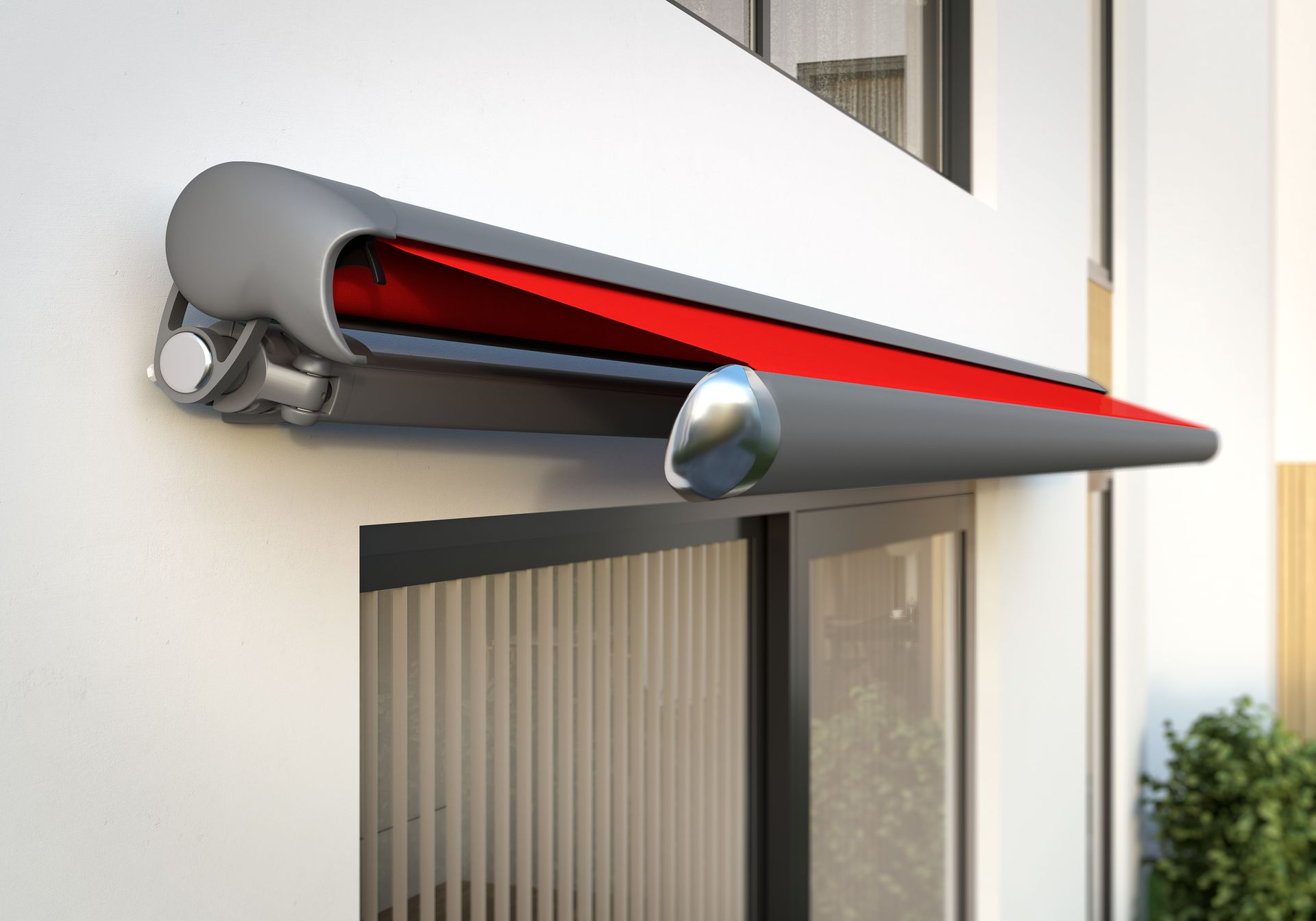 1650 Markilux Awning - red - cassette- Supplied and Fitted by Awningsouth - Hampshire, Surrey, London