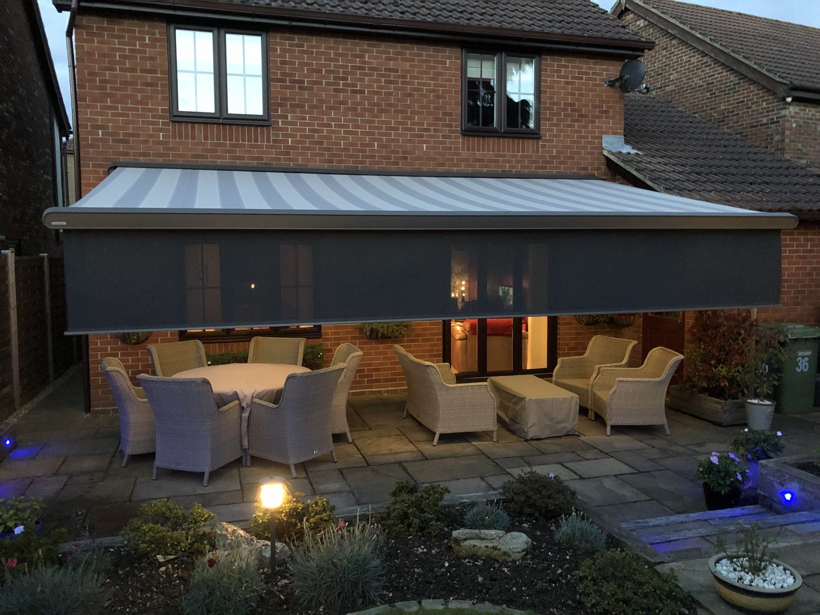 Large Electric Awning WIth Valance Fitted in Southampton by Awningsouth