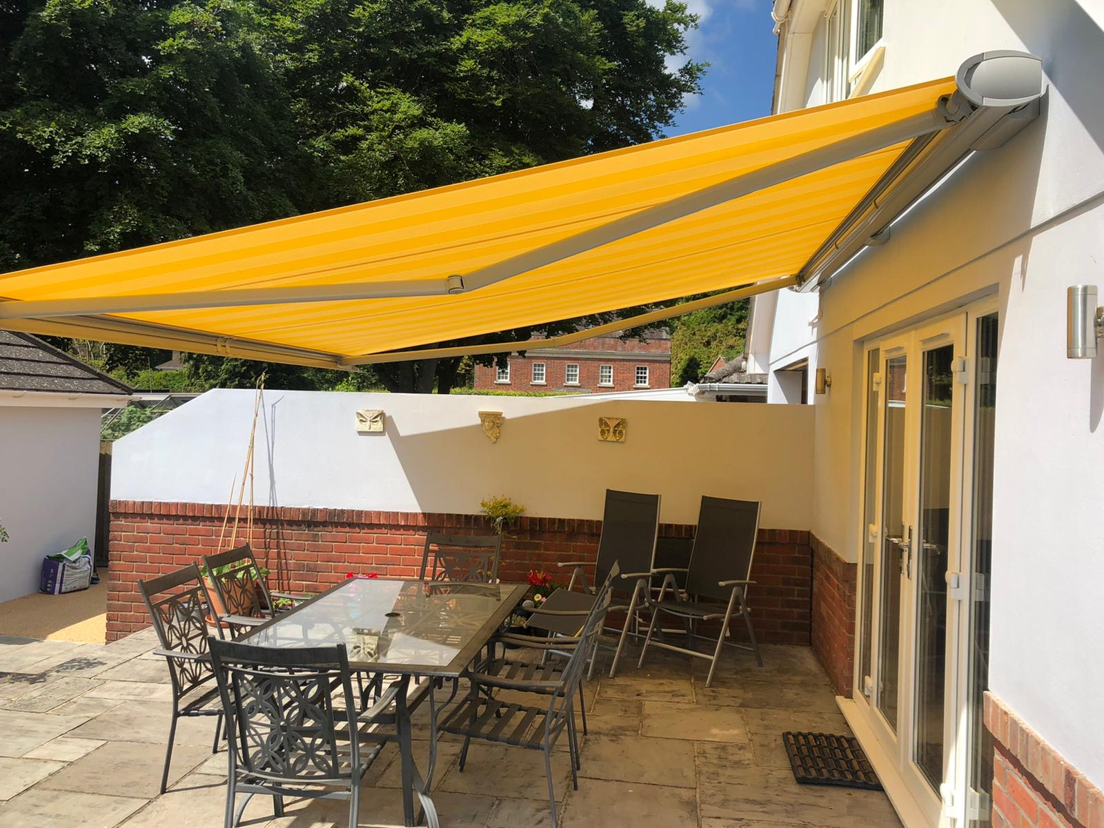 Yellow Opal Weinor Awning Fitted in Ferdown Dorset - Awningsouth