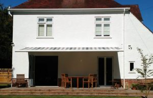 Grey and White Awning Fitted by Awningsouth