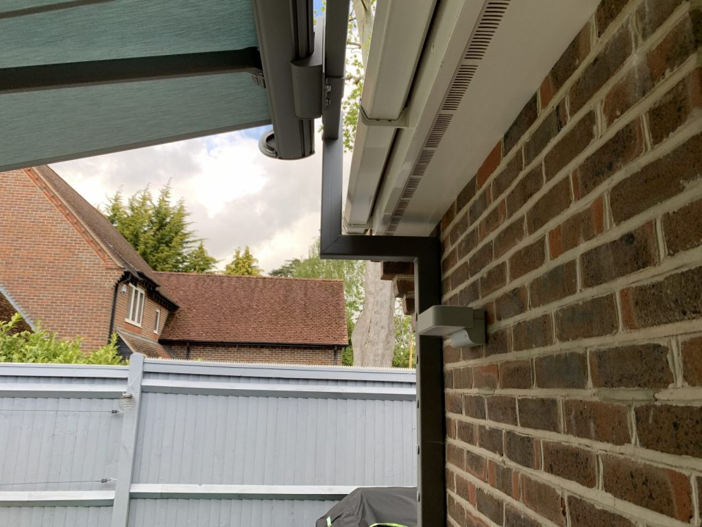 Brackets of Weinor Awning fitted by Awningsouth in Chichester.