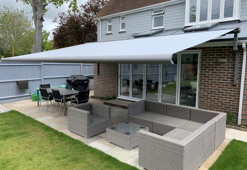 Weinor Awning for Bifold Doors fitted by Awningsouth in Chichester