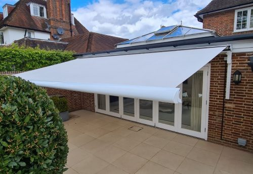 Weinor Semina Life Awning Fitted by Awningsouth - White Canopy