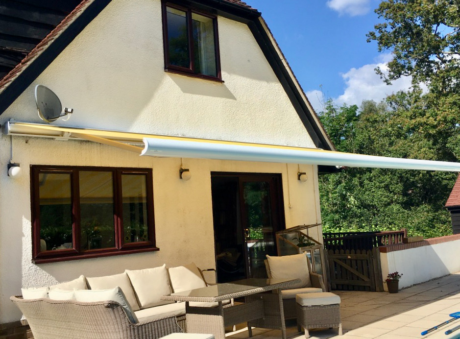 Weinor Electric Awning Fitted in Romsey, Hampshire by Awningsouth